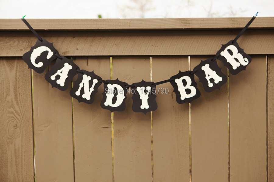 1 X Handmade CANDY BAR Banner Wedding Garland Photo Props Birthday Party Photography Decoration - Rebecaa Yao's International Store store