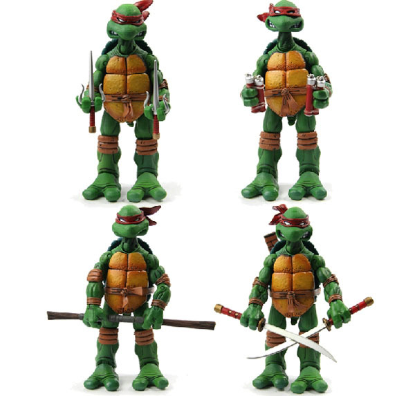 Neca TMNT Teenage Mutant Ninja Turtles Action Figures Tube Packaging Leonardo, Donatello, Michelangelo, Raphael Set 4 - TOYTime Co., Ltd. store