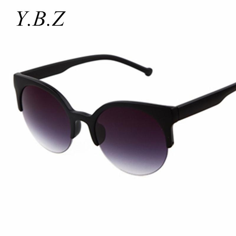 Designer Glasses Half Frame : 2016 New fashion Round Sunglasses half frame Glasses for ...