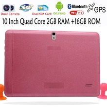 10 Inch Original 3G Phone Call Android Quad Core Tablet pc Android 4 4 2GB RAM