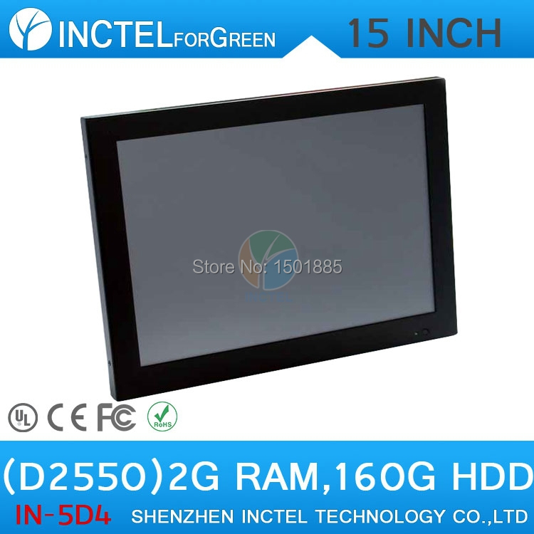 """All in One desktop pc with 15"""" 2mm ultra thin LED panel touchscreen Intel Atom D2550 Dual Core 1.86Ghz 2G RAM 160G HDD(China (Mainland))"""