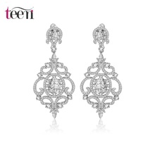 Teemi New Arrival Party Accessories Retro Vintage AAA Cubic Zirconia Big Drop Dangle Earrings Fashion Jewelry For Women Wedding(China (Mainland))