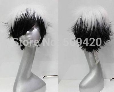 H5982Q>>> beautiful short black white women's hair wig wigs(China (Mainland))