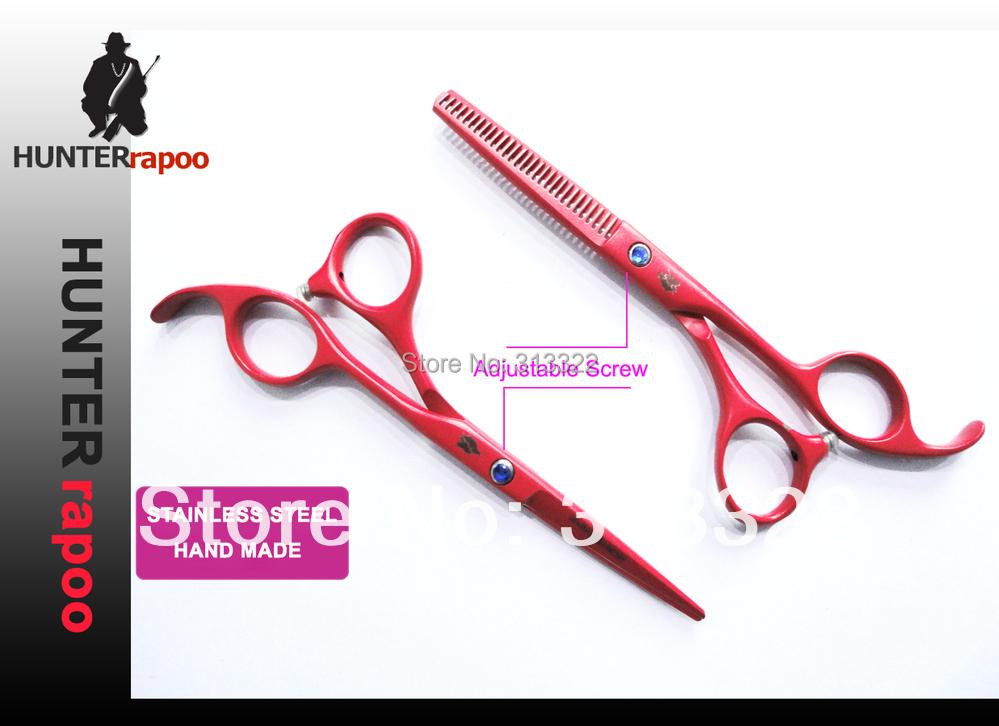 "20% OFF! Hunterrapoo 5.5"" Professional Barber Scissors Kit for hair dressing,Straight Cutting Scissor & Thinning scissor set,(China (Mainland))"
