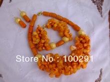 Free ship! Fashion jewelry stone coral  necklace set necklace bracelet earrings 222(China (Mainland))