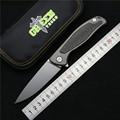 Green thorn F95 Flipper folding knife bearing D2 blade TC4 Titanium carbon fiber handle outdoor camping