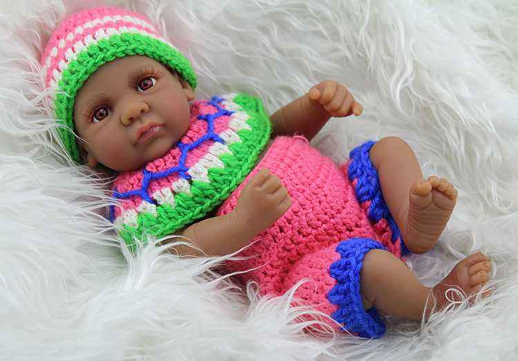 10 Inch Silicone African American Black Reborn Babies Doll ...