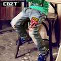 Fashion brand spring and autumn 3-12 age straight casual jeans for boys,cotton blue children pants with special back pocket