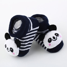 1 Pair Baby Anti Slip Newborn 0 18Month Cotton Lovely Cute Shoes Animal Cartoon Slippers Boots