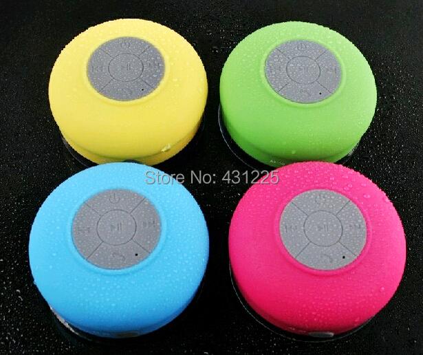 Mushroom Mini Wireless Bluetooth Speaker Waterproof Silicone Sucker Hands Free Speakers - Will beautiful Life _Online Bidding store