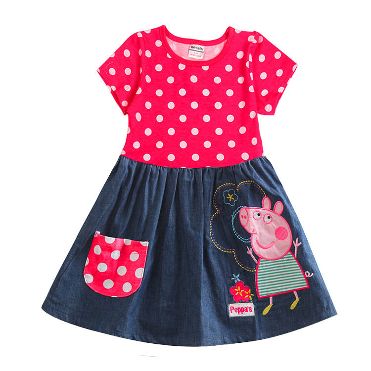 Гаджет  nova girls dresses branded cartoon character children clothes casual summer kids girls dress baby frocks polka dot dress None Детские товары