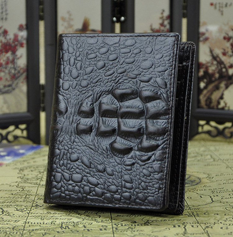New Fashion Men Genuine Leather Standard Short Wallets Boy's Long Money Clips Clutch Wallets Purses Cowhide Card ID Holders(China (Mainland))
