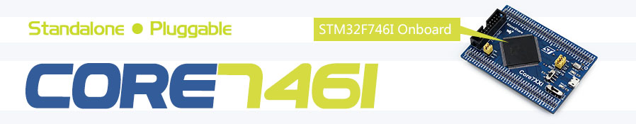 image for STM32 Core Board Core746I Designed For STM32F746IGT6 With Full IO Expa