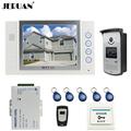 JERUAN 8 video door phone doorbell intercom system home access control system RFID video recoreding photo