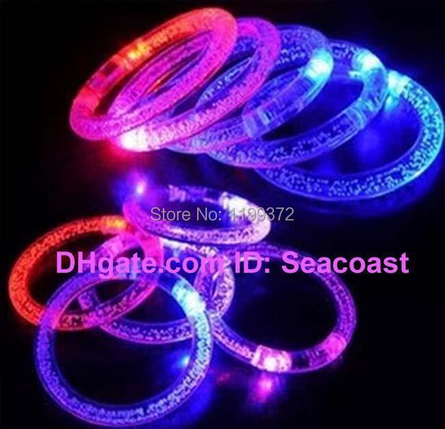 1000pcs/lot LED Flash Blink Blinking Color Changing Light Lamp Party Fluorescence Club Stage Bracelet Bangle(China (Mainland))