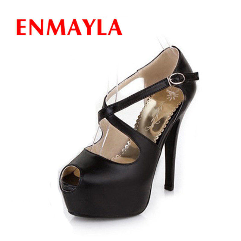Enmayla woman platform pump wedges fashion sexy high for Platform shoes with fish