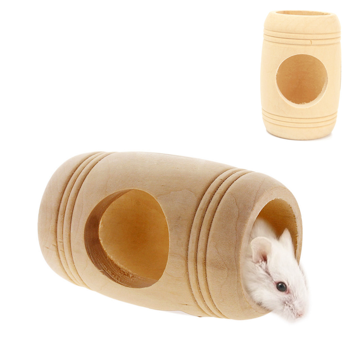 Hot Sale Winter Small Animal Wooden Bed House Cage Molar Wine Cake Shaped Pet Rat Hamster Mouse Wood Toy 11x9cm(China (Mainland))
