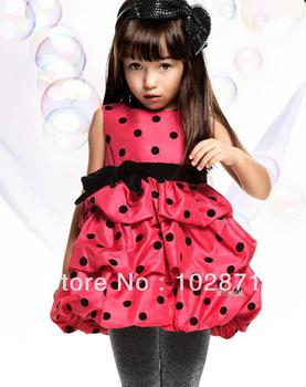 2015 NEW Cute Toddler's & Little Girl's Tiered Dress girl's princess dress , Baby dress  free shipping