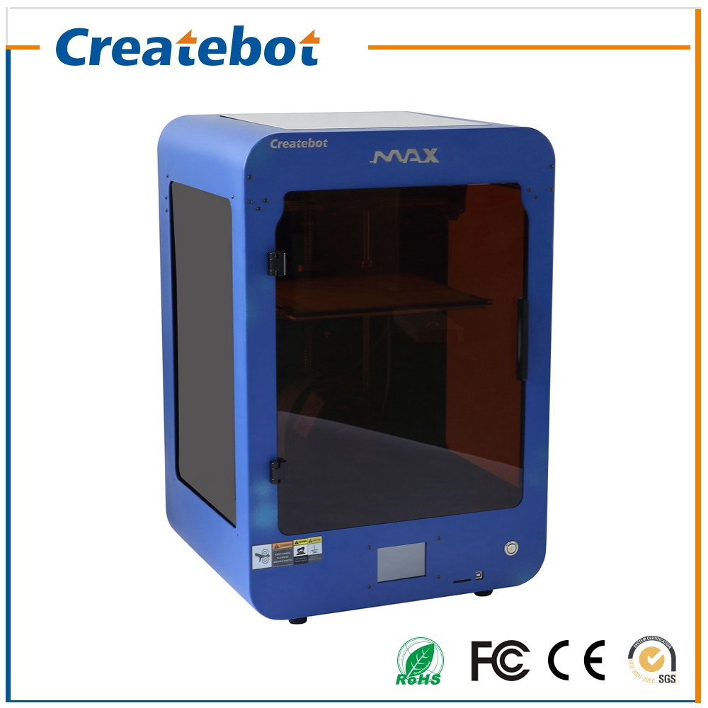 2016 Impresora 3D Profesional Fabricante Createbot MAX Impresora Extrusora 3D con Pantalla Táctil y Heatbed Alta Precisión(China (Mainland))