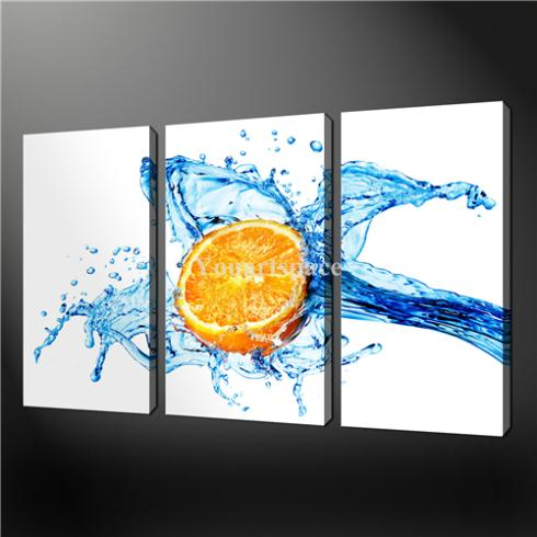 3 piece wall art painting print on canvas the picture for Art prints for kitchen wall