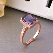 Wedding Rings Ring Ornaments of Silvers Female Silver 925 Ruby Joias Plastic for Women Opal Rose