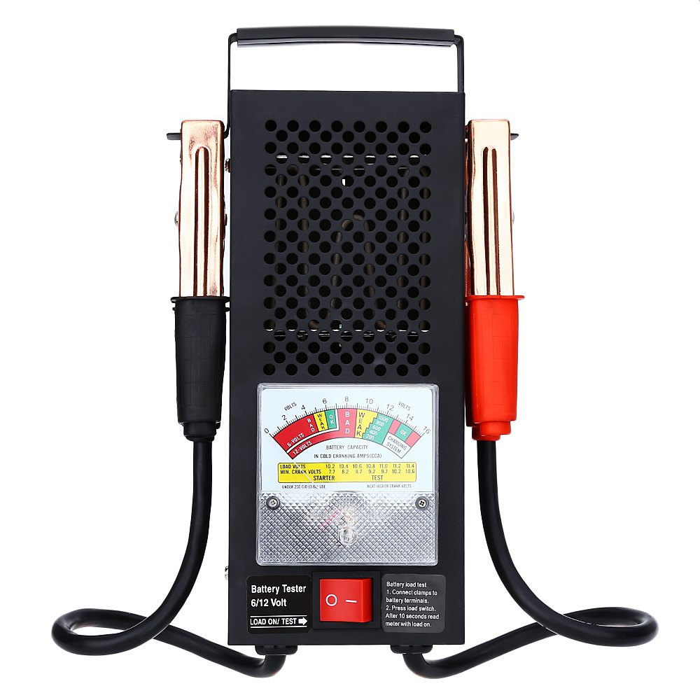 T16594 Automotive Vehicular Electromobile 6V 12V Battery Load Tester Equipment Voltage Tool Accurate Indication Easy to Carry(China (Mainland))