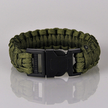 Buy Fashion Kit Military Emergency Paracord Bracelets Men Women Parachute Cord Survival Bracelet Male Braided Jewelry Multicolor for $1.37 in AliExpress store