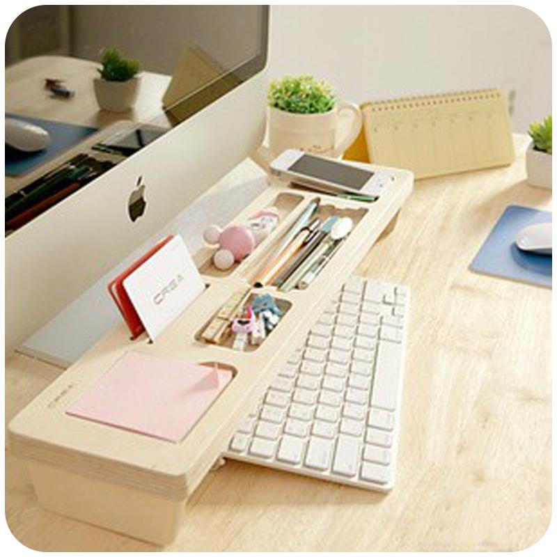 Fashion Wooden Desk Organizer Office Stationery Racks