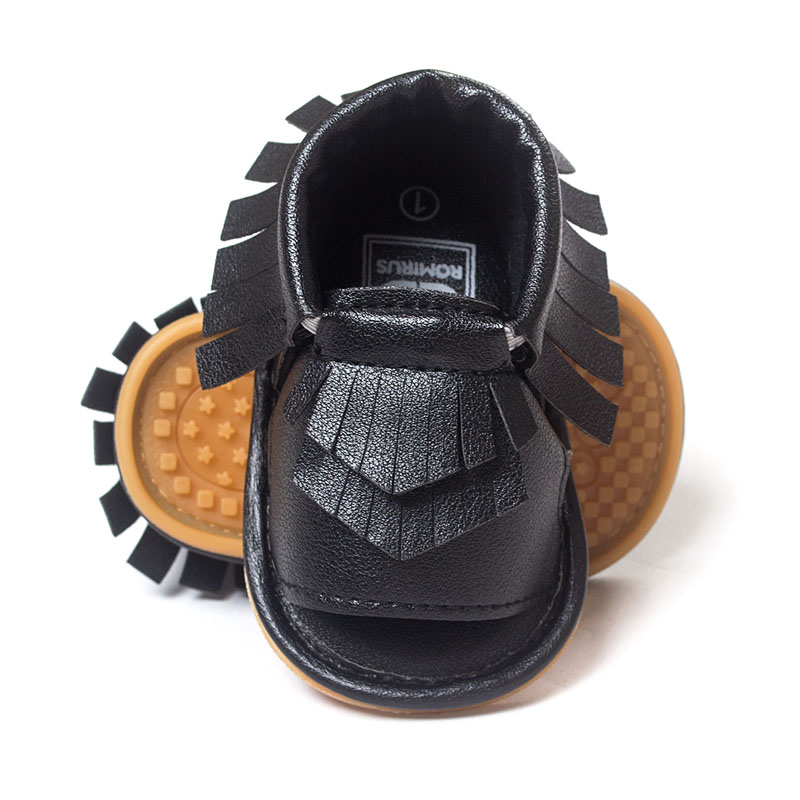 New Summer PU Leather Fringe Newborn Baby Girl Boy Crib First Walkers Soft Soled Non Slip Shoes Baby Moccasins Moccs Shoes(China (Mainland))