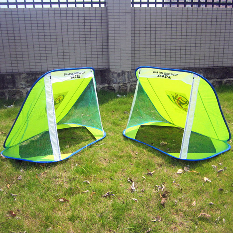 Green kids football goal Foldable designer soccer door Training family children play(China (Mainland))