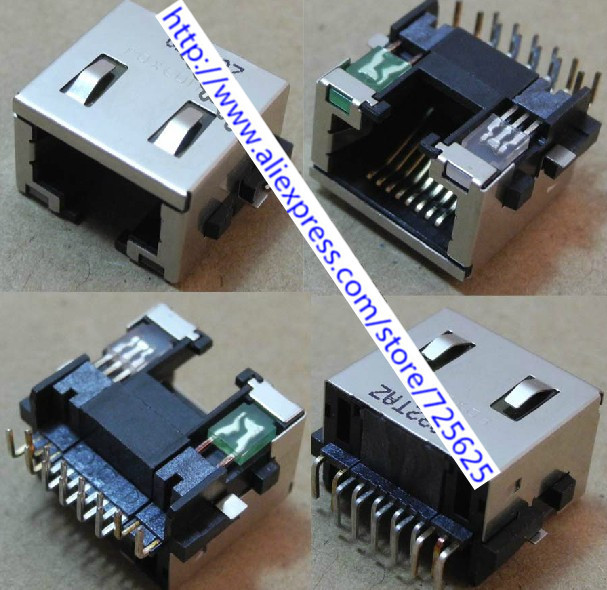 Free shipping 10 RJ45 Module Network PCB Jack for Acer eMachines D525 D725 4732Z MS2268 laptop LAN Network Jack Connector(China (Mainland))