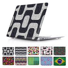 Cool Brazil style pattern flag Print Case for Apple Macbook Air 11 12 13 Mac Book Pro 13 15 Retina New Hard Cover sleeve Shell