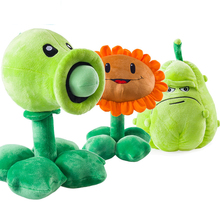 Buy 3pcs/lot Plants vs Zombies Pea Shooter Sunflower Squash Stuffed Plush Toys Games PVZ Soft Plush Toy Doll Kids Children Gifts for $36.00 in AliExpress store