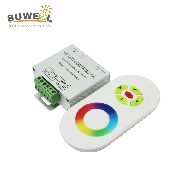 dc 12-24v wireless rf led rgb controller dimmer touch panel remote control led strip controler output 3 channel 5A/channel(China (Mainland))