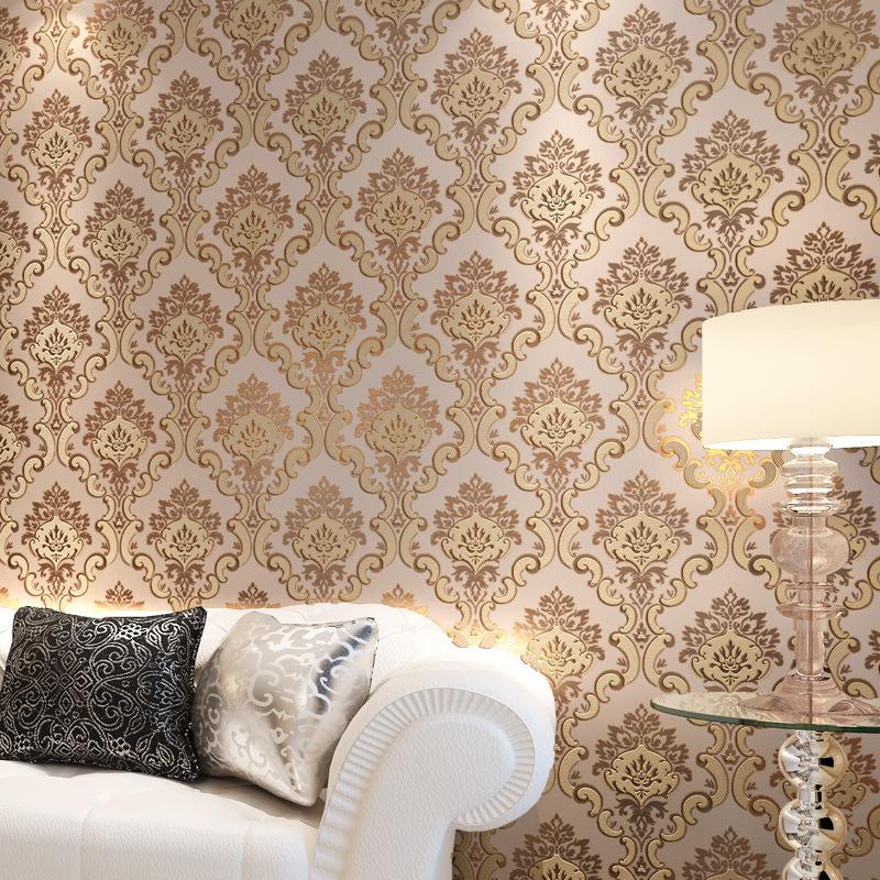Online kopen wholesale groen bruin slaapkamer uit china for Green feature wallpaper living room