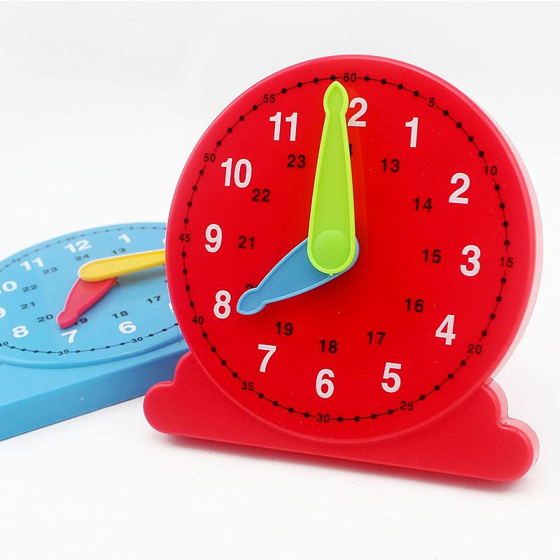 Montessori teaching aids Clock Toy Baby Early learning education Toys School Teacher kid children - miyee store