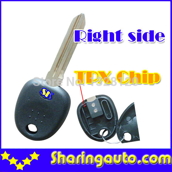 Free  shipping  Transponder Key Blank For TPX Chip  for hyundai Right Blade (10 piece/lot)<br><br>Aliexpress