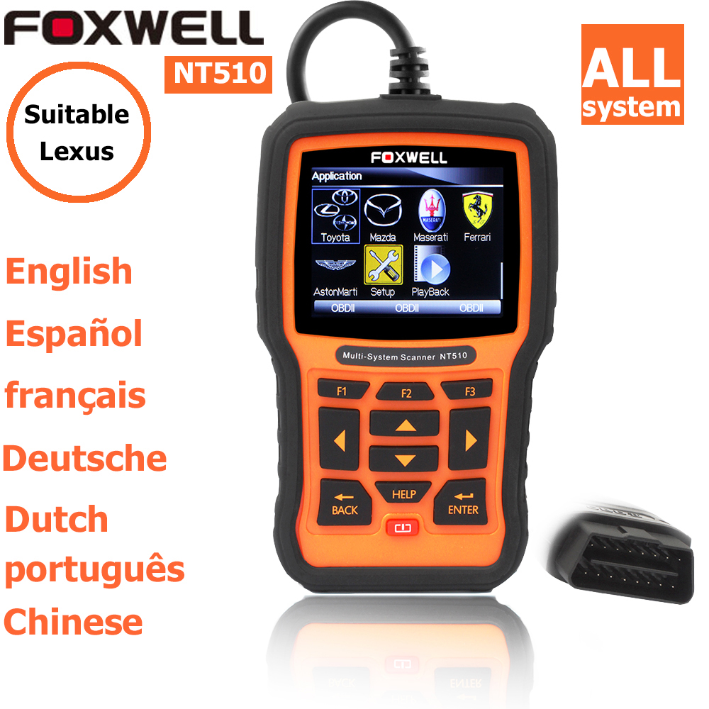 foxwell nt 510 for Lexus OBDII Scan Tool Vehicles Diagnosis autoscanner diagnostic scanner obd code readers scan tools obd2(China (Mainland))