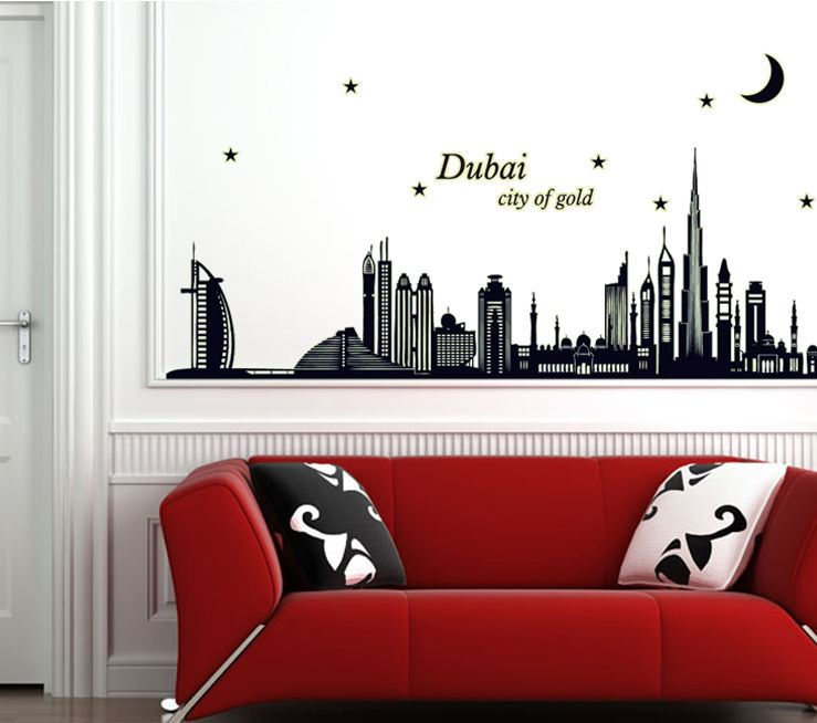 Buy Fluorescent Stickers Dubai Happy Cute Glow In Dark Wall Stickers Decoration