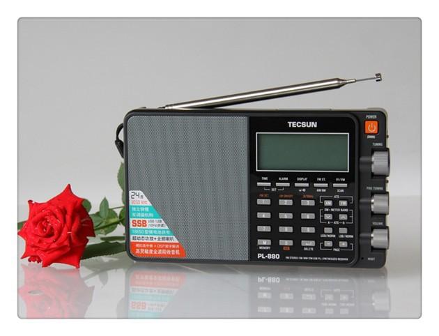 Tecsun Pl 880 Radio Receiver Portable Digital Stereo Pll Dual Conversion Am Fm Longwave Shortwave Ssb Reception Cb Transceiver