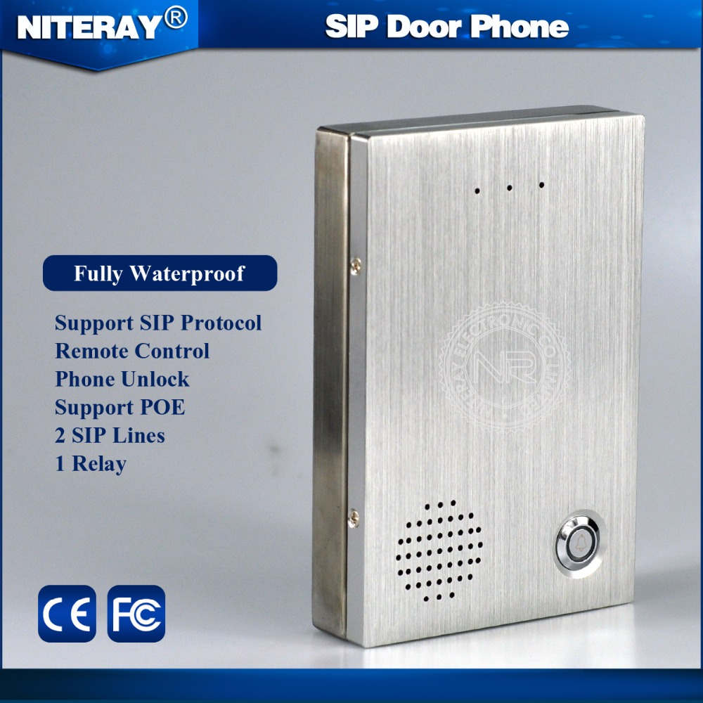 Audio Door phone IP Door Phone Access Control System SIP Intercom Compatible with Asterisk, Alcatel, Avaya and Cisco PBX system(China (Mainland))