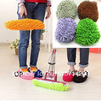 Brazil Free Shipping 10pcs x Multifunction Mop House Bathroom Floor Lazy Dust Cleaner Slipper Shoes Cover 10EUl(China (Mainland))