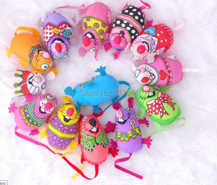New Arrived 20pcs Free Shipping cute colorful mouse FAT CAT TOY CATNIP IN ASSORTED COLORS organic Catnip toy 20pcs/lot(China (Mainland))