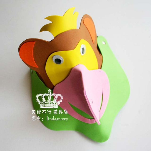 Kindergarten toy animal style hair accessory animal hat child small monkey hat hair accessory