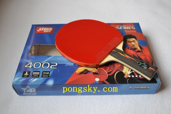 Guaranteed 100% DHS DOUBLE HAPPINESS SPORTS 4006/4002 TABLE TENNIS RACKET PING PONG PADDLE 4 STARS