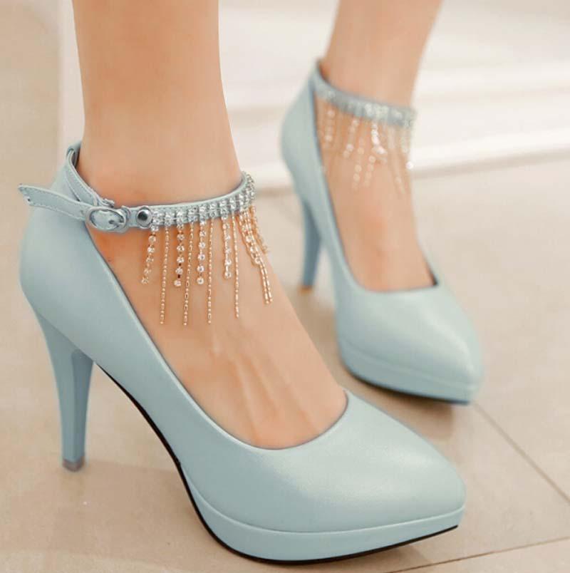 ENMAYER Pointed toe Size 34-43 High Heels Pumps Stilettos Women Design Sexy 9 cm Heel Platform Party Evening Shoes - ENMAYDA store