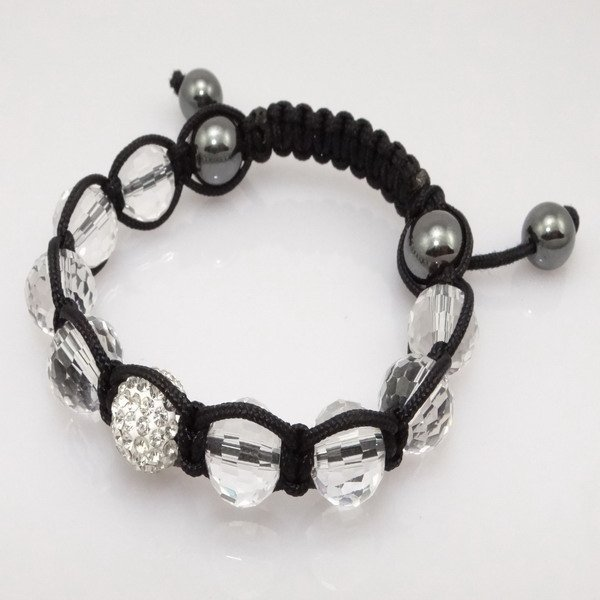 Fashion best selling newest styles Unisex Style Crystal plastic ball 10mm Shambhala Fashion Bracelet CC25