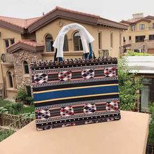 Marca de luxo Designer de Mulheres Lona Livro Tote Bolsa de Ombro de Alta Qualidade Letras Imprimir Feminino Casual Compras Bolsa 2019 Novo(China)
