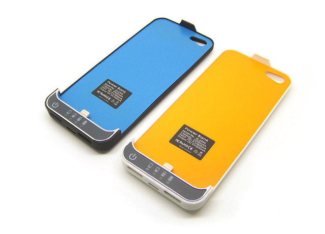 Free Shipping 2200mAh Portable Power Bank Charger Backup External Battery Cover Case For iPhone 5 5G