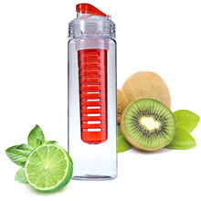 700ML Fruit Infusing Infuser Water Sports Lemon Juice Bottle Flip Lid Suitable kitchen table Camping travel outdoor application(China (Mainland))